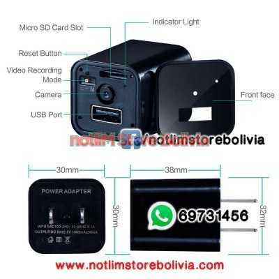 Cargador Camara Espia FullHD - Precio: 400Bs