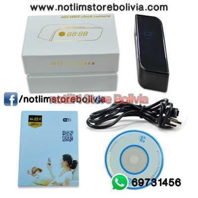 Reloj Despertador Espia con Wifi y Vision Nocturna - Precio: 600Bs