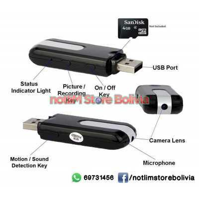 Memoria USB Camara Espia - Precio: 300Bs