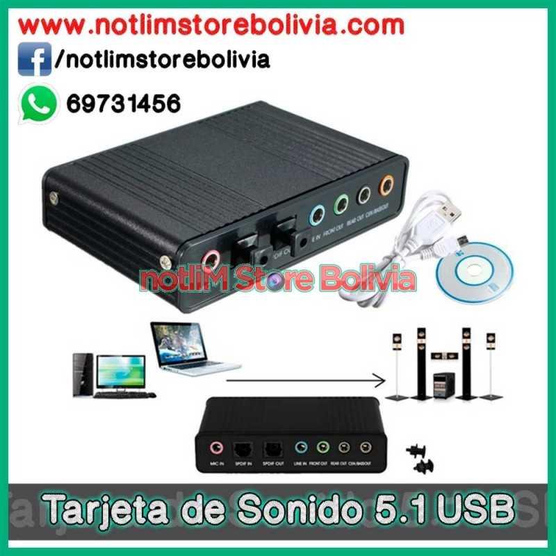 Tarjeta de Sonido 5.1 USB - Precio: 250Bs